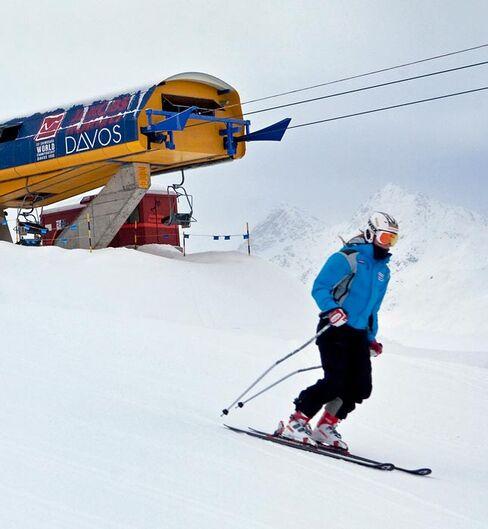 Skier On The Slopes in Davos