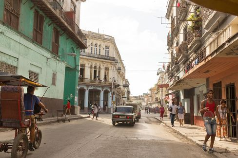 A street scene in Old Havana, which is quickly becoming new Havana.