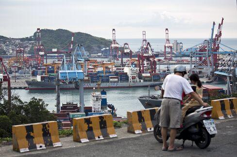 Port Of Keelung In Taiwan