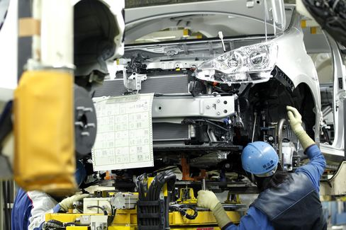 Japan Production Rises Less Than Forecast as BOJ Meets