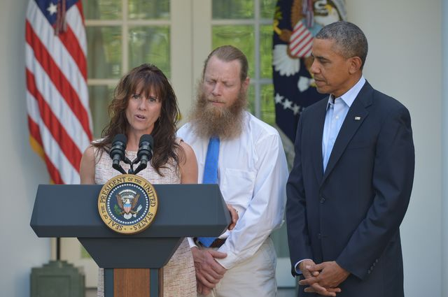 Sergeant Bowe Bergdahl's parents got the best end of the deal.Photographer: Mandel Ngan/AFP/Getty Images