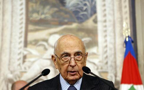 Italy's President Giorgio Napolitano