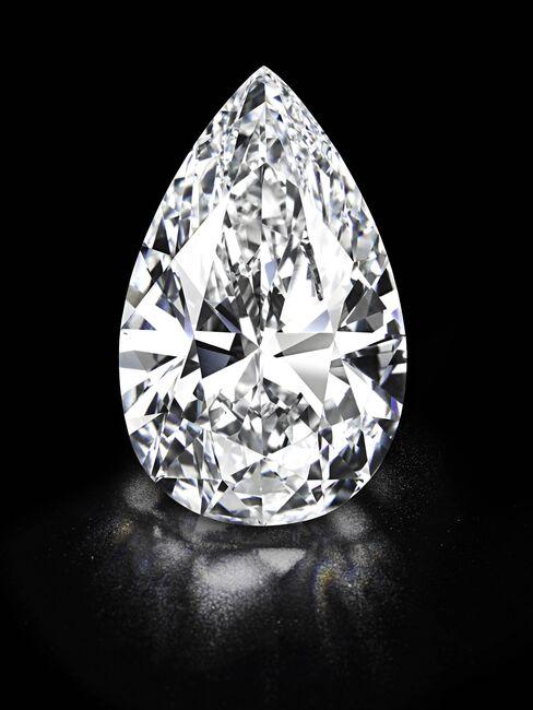 'Winston Legacy' Pear-Shaped Colorless Diamond