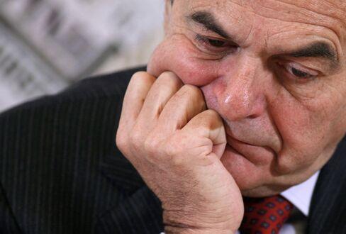 Italian Democratic Party leader Pier Luigi Bersani