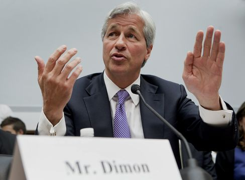 Jamie Dimon, chief executive officer of JPMorgan Chase & Co., testifies at a House Financial Services Committee hearing in Washington, on June 19, 2012. Photographer: Andrew Harrer/Bloomberg