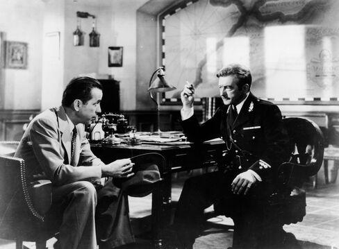 Actor Claude Rains In The Movie Casablanca
