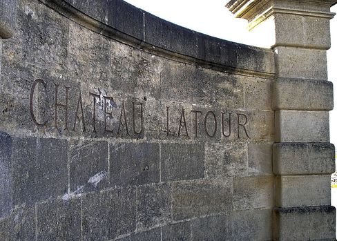 The Entrance to Chateau Latour Sits in Pauillac