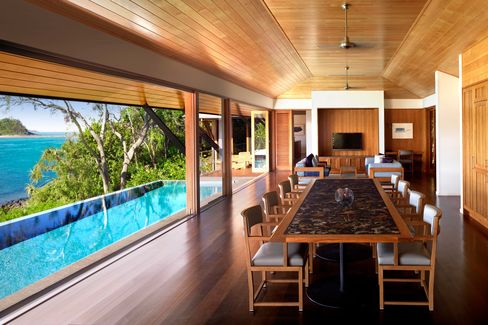 The Beach House pavilion at Qualia seats 10 for dinner, have a private pool, prime views of the regatta—and rented for AU$2,900 a night during the race week.