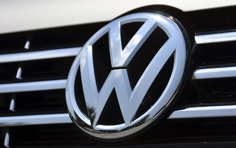 The Volkswagen AG Logo Sits on an Automobile in Chattanooga