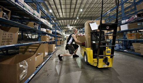 Wholesalers in U.S. Lift Stockpiles at Slower Pace as Sales Fall