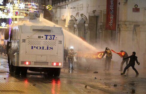 Riot Police Disperse Demonstrators in Istanbul