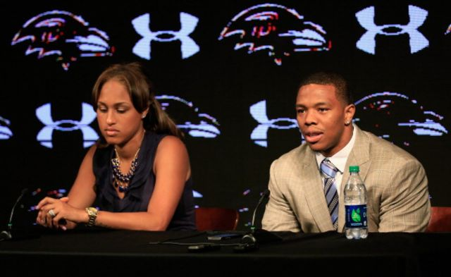 Janay and Ray Rice, at the news conference in May.