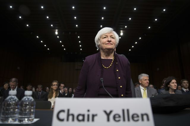 Fed Chair Janet Yellen, boldly going where central bankers haven't gone before.Photographer: Andrew Harrer/Bloomberg