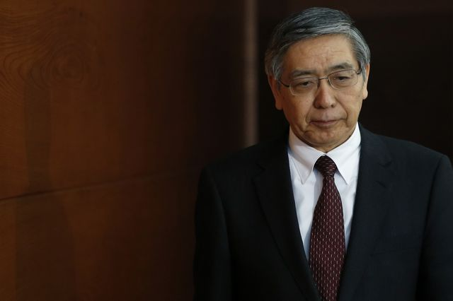 Japan is counting on this man, Haruhiko Kuroda,to go bold. Photographer: Kiyoshi Ota/Bloomberg