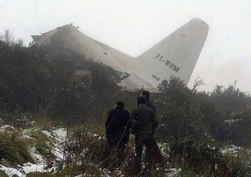 Military Plane Crashes in Algeria