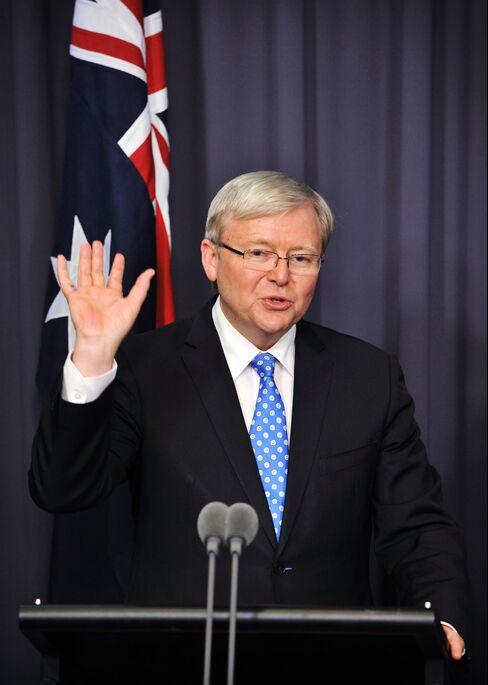 Australia's Prime Minister-Elect Kevin Rudd