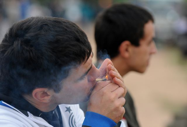 Yes, I'm inhaling. Photographer: Miguel Rojo/AFP/Getty Images