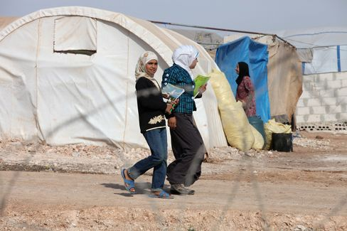 Syrians in the Atmeh Camp