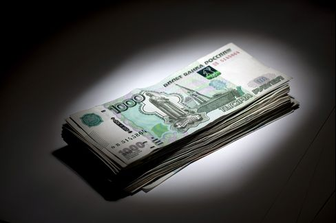 Russian 1000 Ruble Currency Banknotes