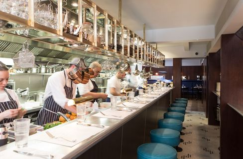 The counter at the front of the restaurant offers prime seating, where you can interact with the chefs.
