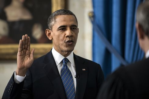 Obama Takes Oath at White House to Begin Second Term
