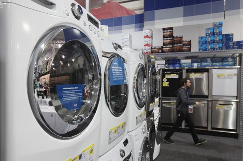White Goods Displayed For Sale Inside a Best Buy Co. Store