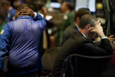 U.S. Stocks Post Longest Slump in 1 Month on Europe Woes
