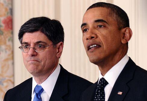 President Barack Obama and Jacob Lew