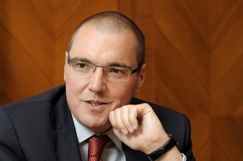 Czech Central Bank Governor Miroslav Singer