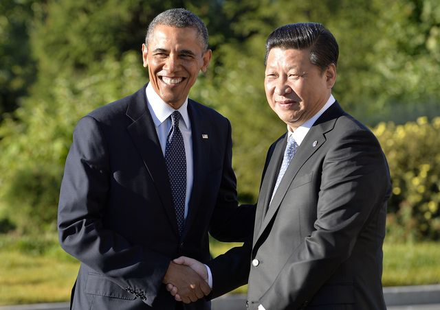 These guys only look like friends. Photographer: Jewel Samad/AFP/Getty Images