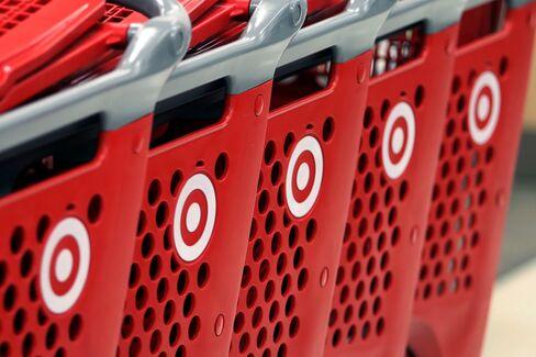 Target Corp. Logos Sit on Shopping Carts