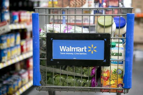 U.S. Stocks Extend Losses as Wal-Mart Leads Dow Average Lower
