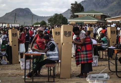 Voters in Malawi