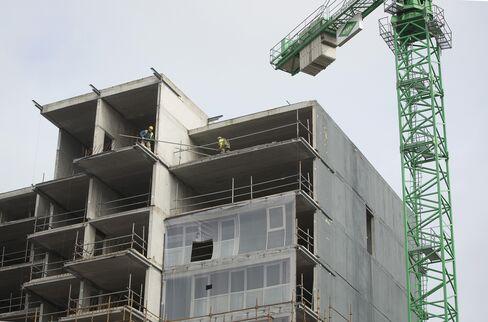 Builders Work on Residential Apartments in Dublin