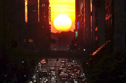 Manhattanhenge on 42nd Street