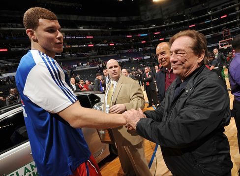 Clippers Player Blake Griffin and Team Owner Donald Sterling