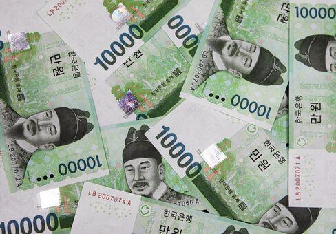 Korean Won, Stocks, Bonds Drop on Bank Levy