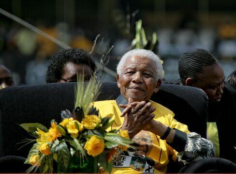 Former South African President Nelson Mandela