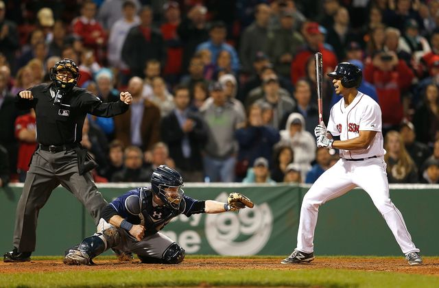 The doubleheader rule, like Xander Bogaerts, should be struck out. Photographer: Jim Rogash/Getty Images