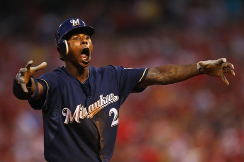 Nyjer Morgan of the Milwaukee Brewers