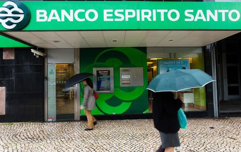 Banco Espirito Santo's shares fell as much as 14 percent today, and yields on Portugal's 10-year bond