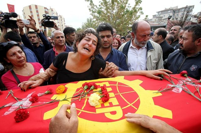 <p>A time of mourning.</p> Photographer: ADEM ALTAN/AFP/Getty Images