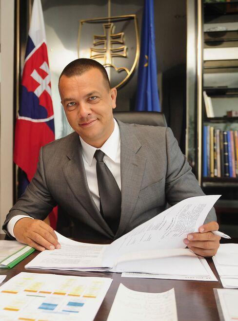 Slovakia's Economy Minister Juraj Miskov