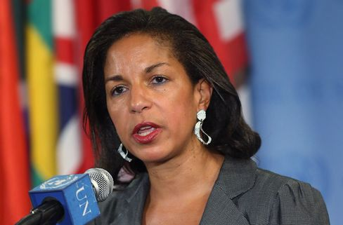 U.S. Ambassador to the United Nations Susan Rice speaks to the media after a U.N. Security Council meeting on Syria on May 30, 2012 in New York City. Photo: Mario Tama/Getty Images