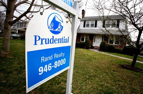 A Prudential realty sign outside previously owned home, NY