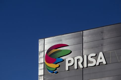 Prisa TV Logo Sits at the Prisa Headquarters in Madrid