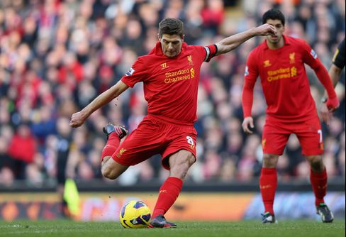 Liverpool Routs Swansea 5-0 in English Soccer's Premier League