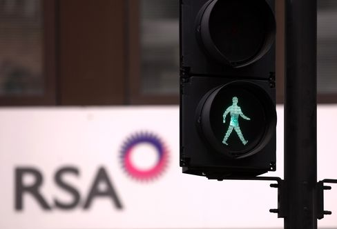 RSA Insurance Group Logo Sits in London