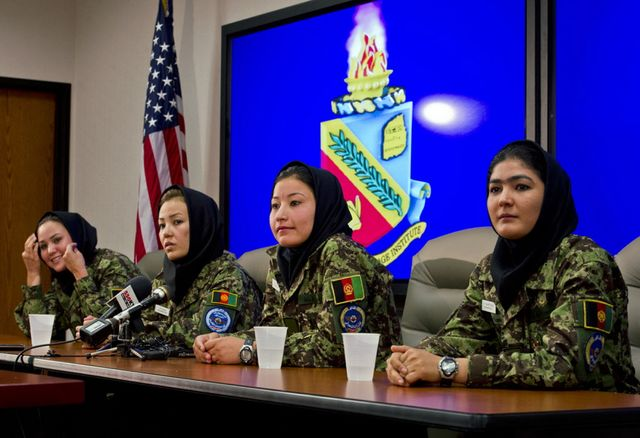 The few, the proud...the literate: Afghan women training as helicopter pilots in the U.S. Source: Department of Defense via Bloomberg