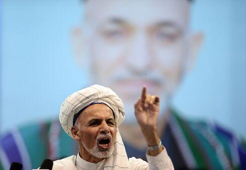 Afghan Presidential Candidate Ashraf Ghani Ahmadzai